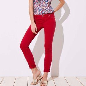 LOFT Red Modern Skinny Crop Jean 30/10